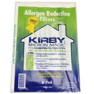 Kirby Hepa Style F Bags-6 Pack