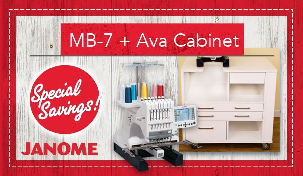 Janome MB7 with Ava Cabinet