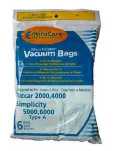 Riccar A Bag-6 Pack Envirocare