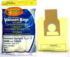 Kenmore U/Panasonic Type U-2 Bags-9 Pack