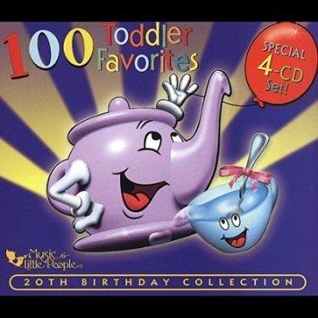 100 Toddler Favorites - 4 CD Set