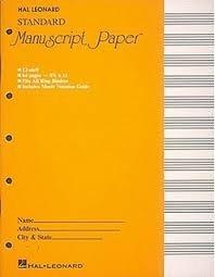Alfred's Manuscript Paper Book