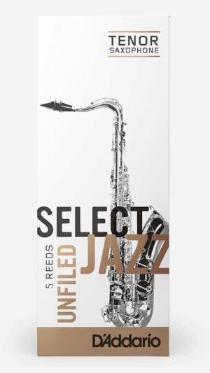 D'Addario SELECT JAZZ UNFILED TENOR SAXOPHONE REEDS Strength 4 Soft, 5-Pack