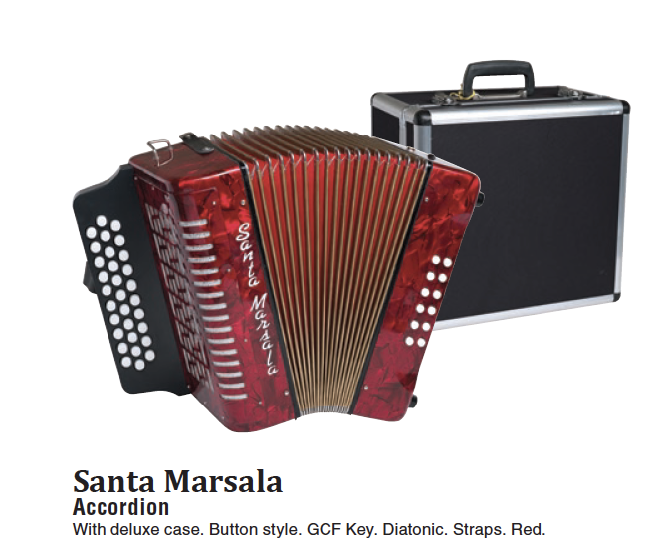 Accordion red with case