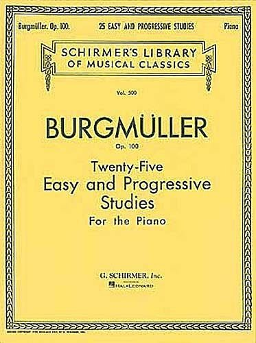25 Easy and Progressive Studies For the Piano Burgumller