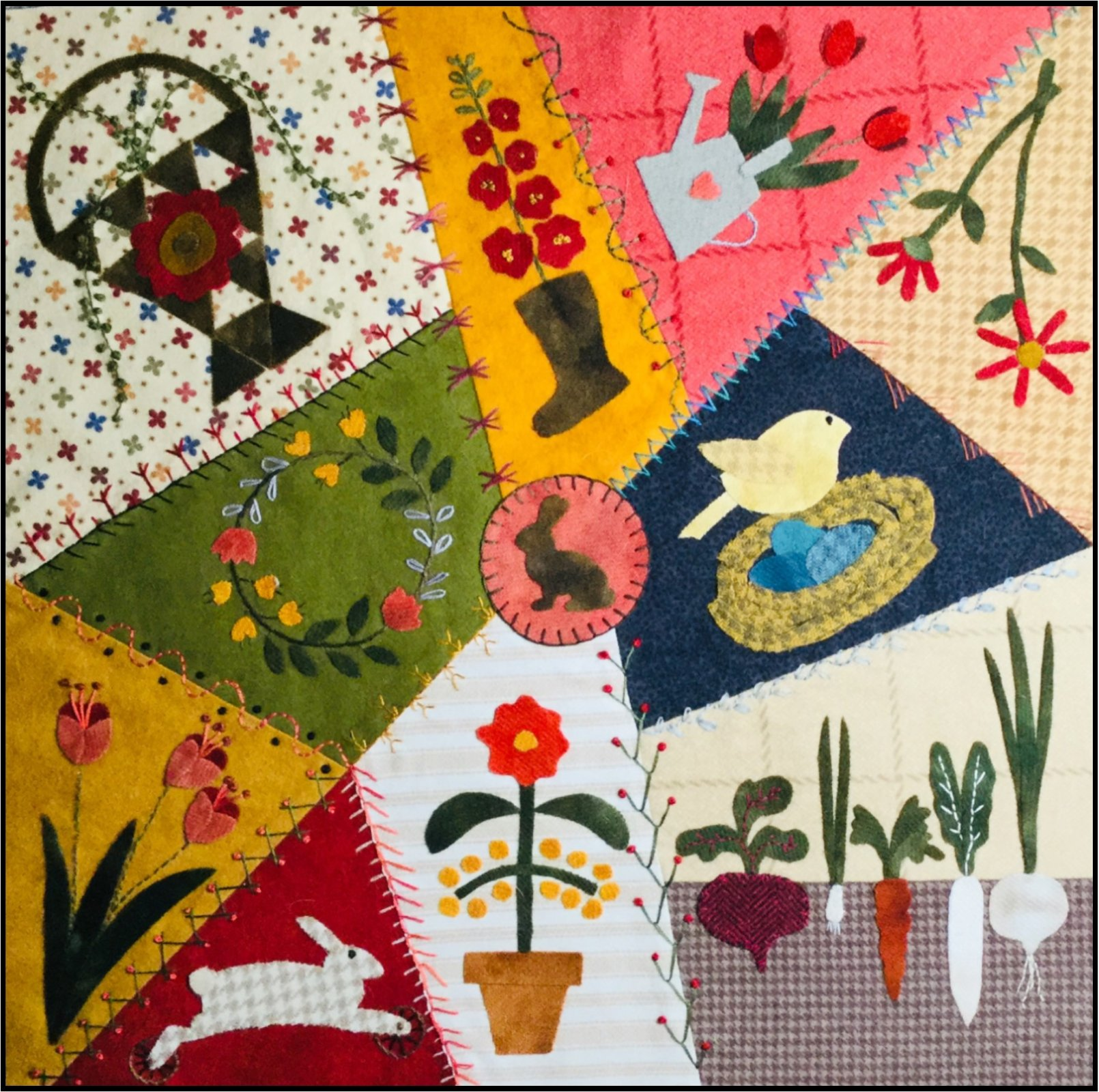 Crazy Seasons Mystery Quilt Block 1