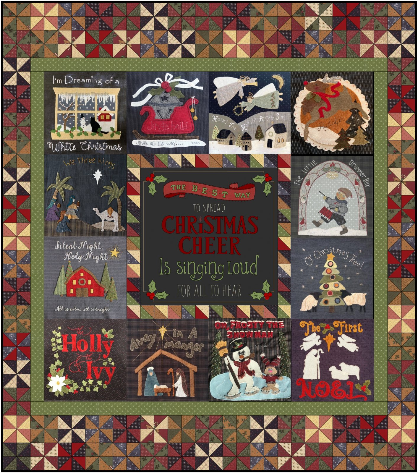 Christmas Carols Mystery Quilt Finishing Instructions digital download