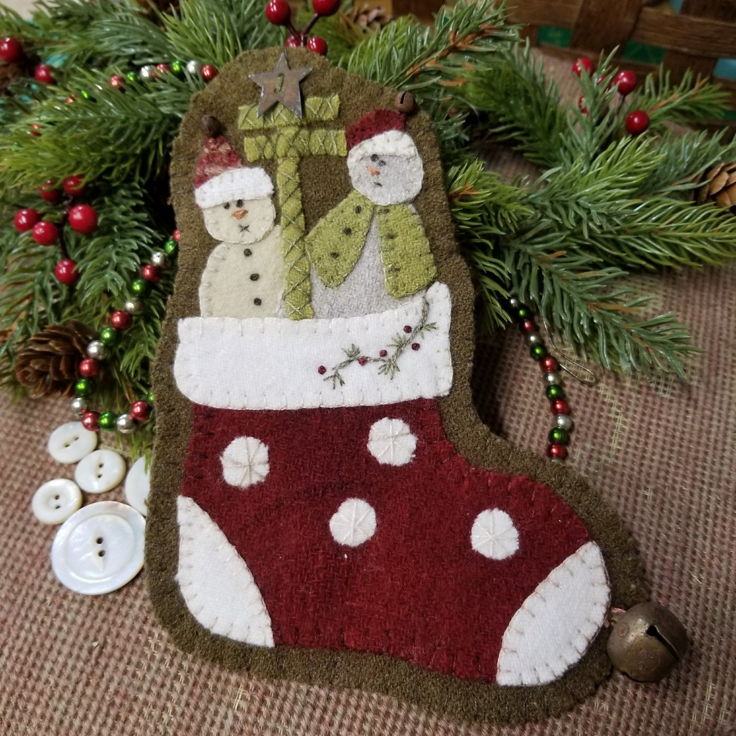 ORNAMENT POLKA DOT STOCKING