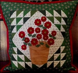April Flowers Pillow
