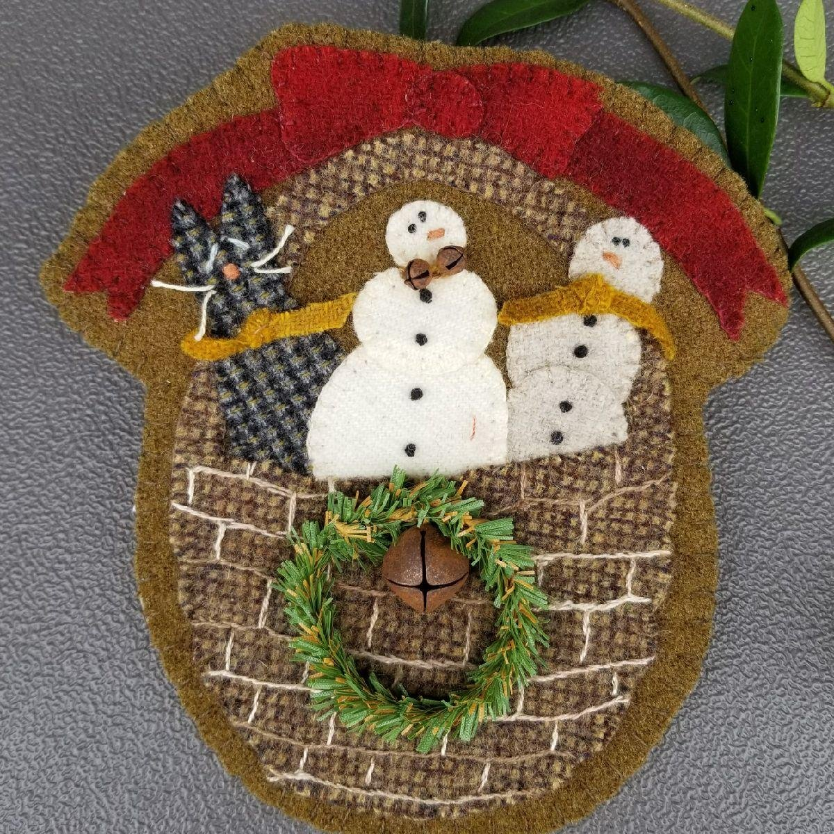 ORNAMENT SNOWMAN BASKET