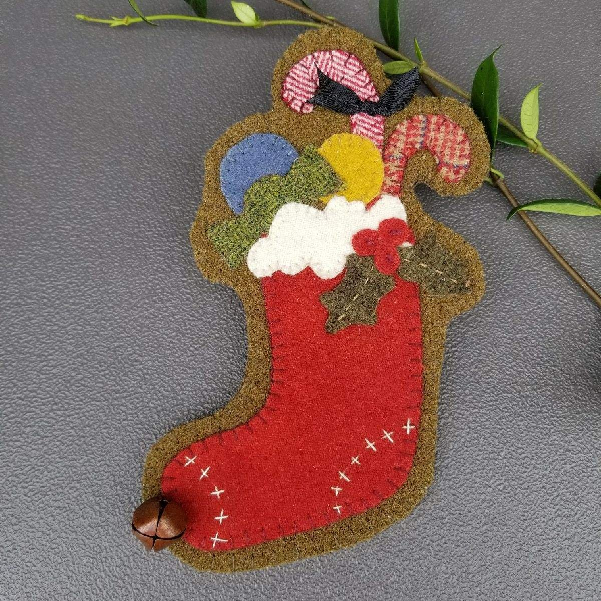 3 CANDY CANE STOCKING ORNAMENT