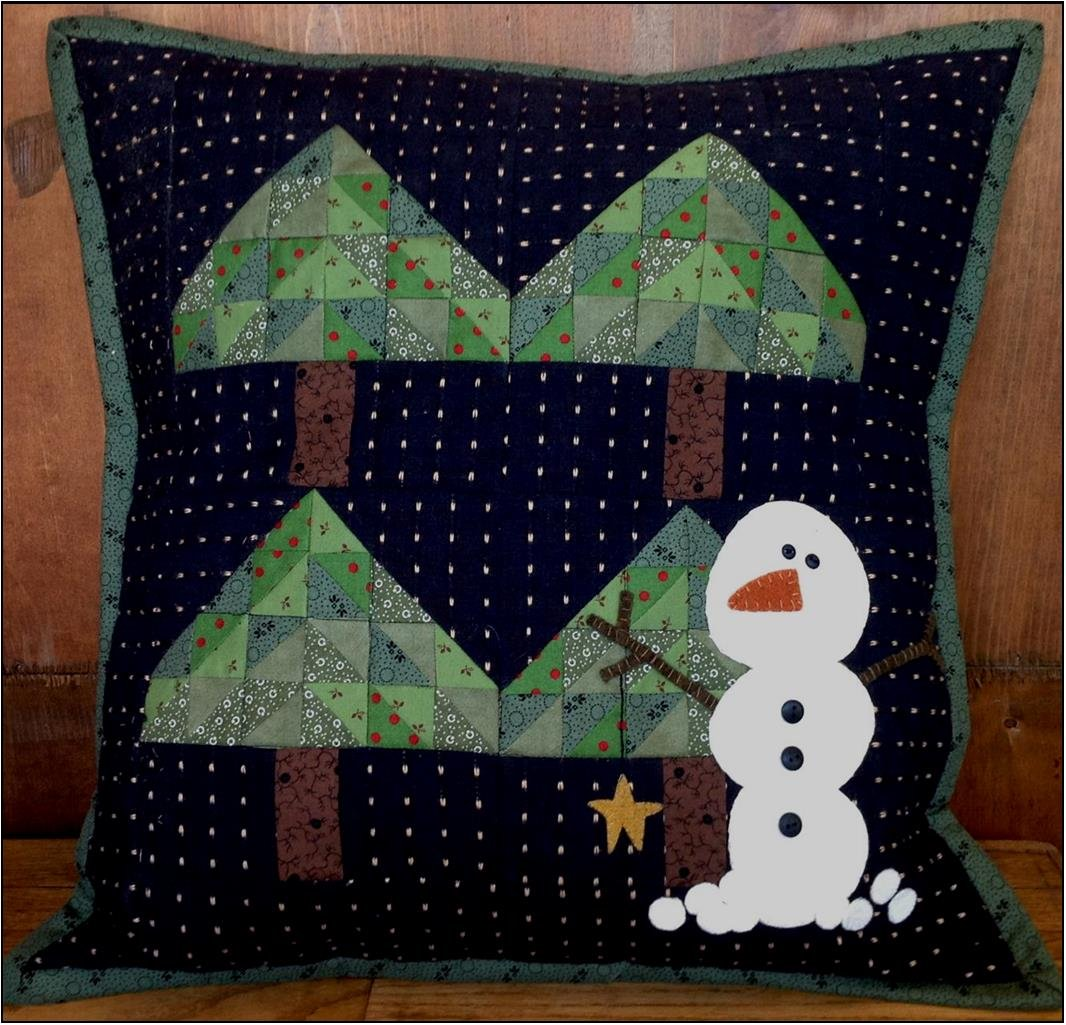 December Snow Pillow