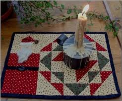 Santa Candle Mat