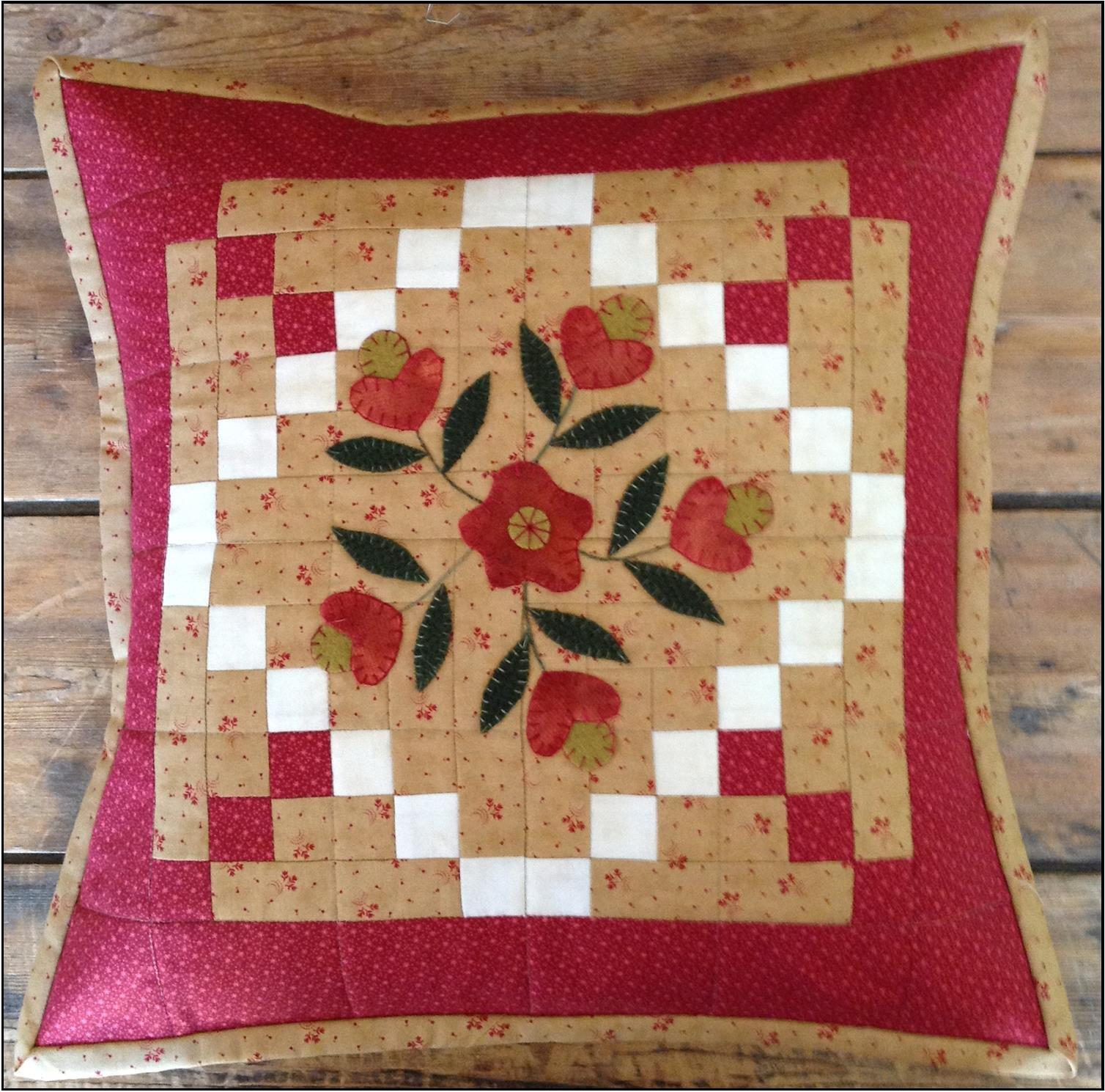 February Flowers Pillow