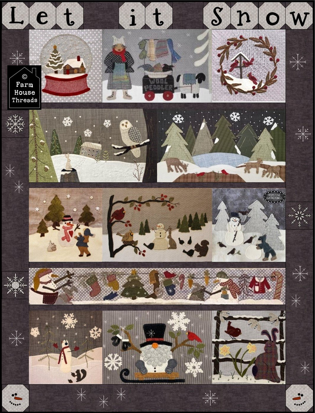 Let it Snow Mystery Quilt Finish Digital Download Pattern