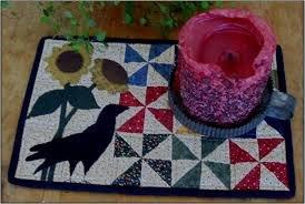 Garden Crow Candle Mat