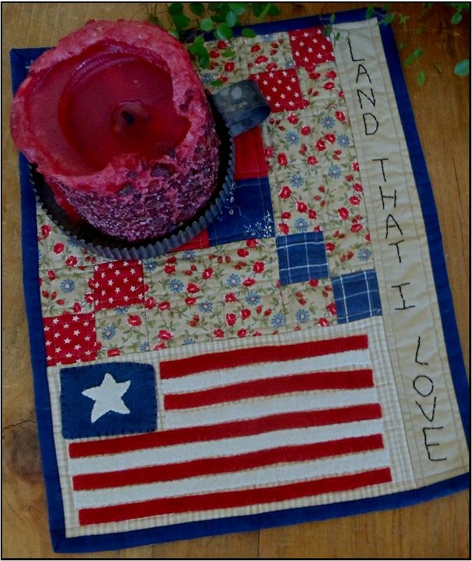 Land that i Love Candle Mat