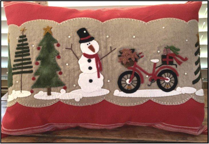 Frosty Fun Pillow Pattern digital download