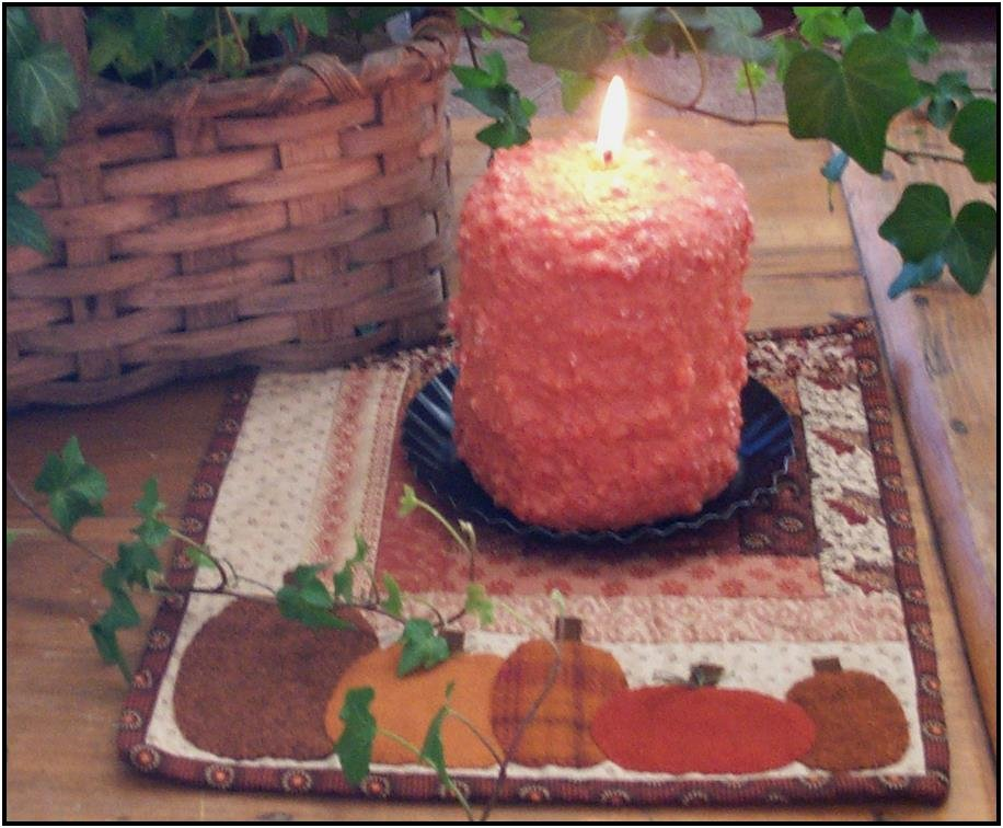 Pumpkin Candle Mat