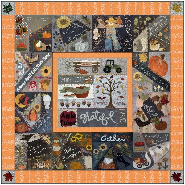 Crazy For Fall Mystery Quilt FINISH