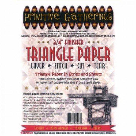 Primitive Gatherings Triangle Paper 3/4