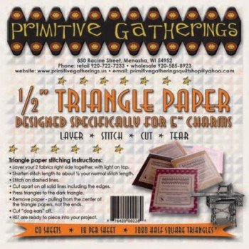 Primitive Gatherings Triangle Paper for Charm Packs 1/2