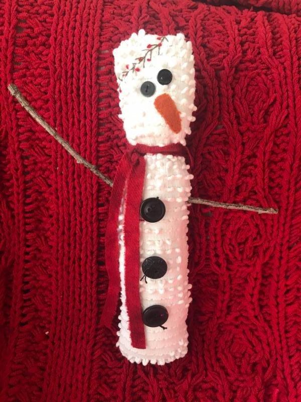 Chenille Snowman Ornament