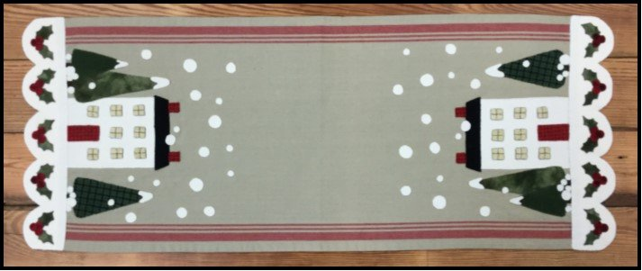 WEEK 3-Winter House Table Runner