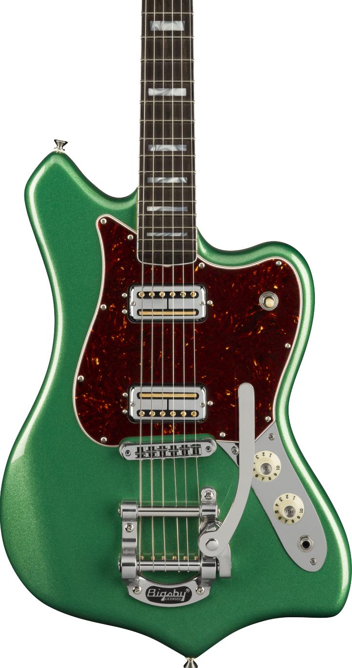 Fender Maverick Dorado Mystic Pine Green Parallel Universe 2