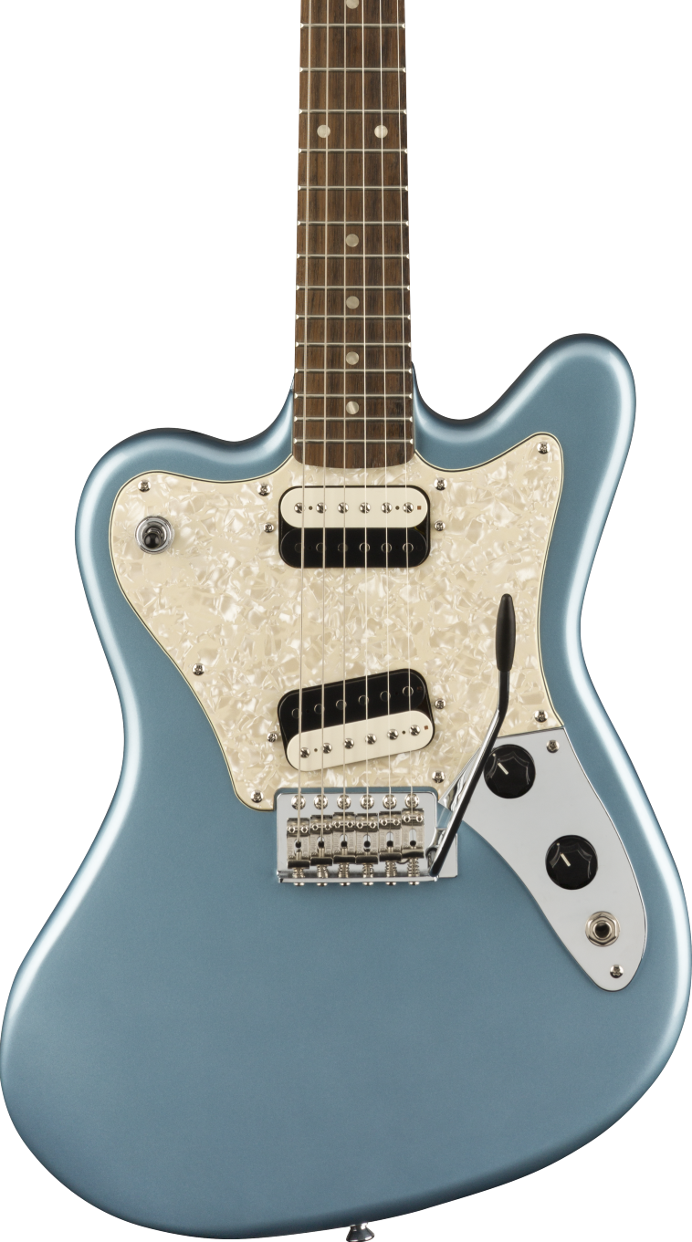 Squier Paranormal Series Super-Sonic Ice Blue Metallic, Laurel Fingerboard