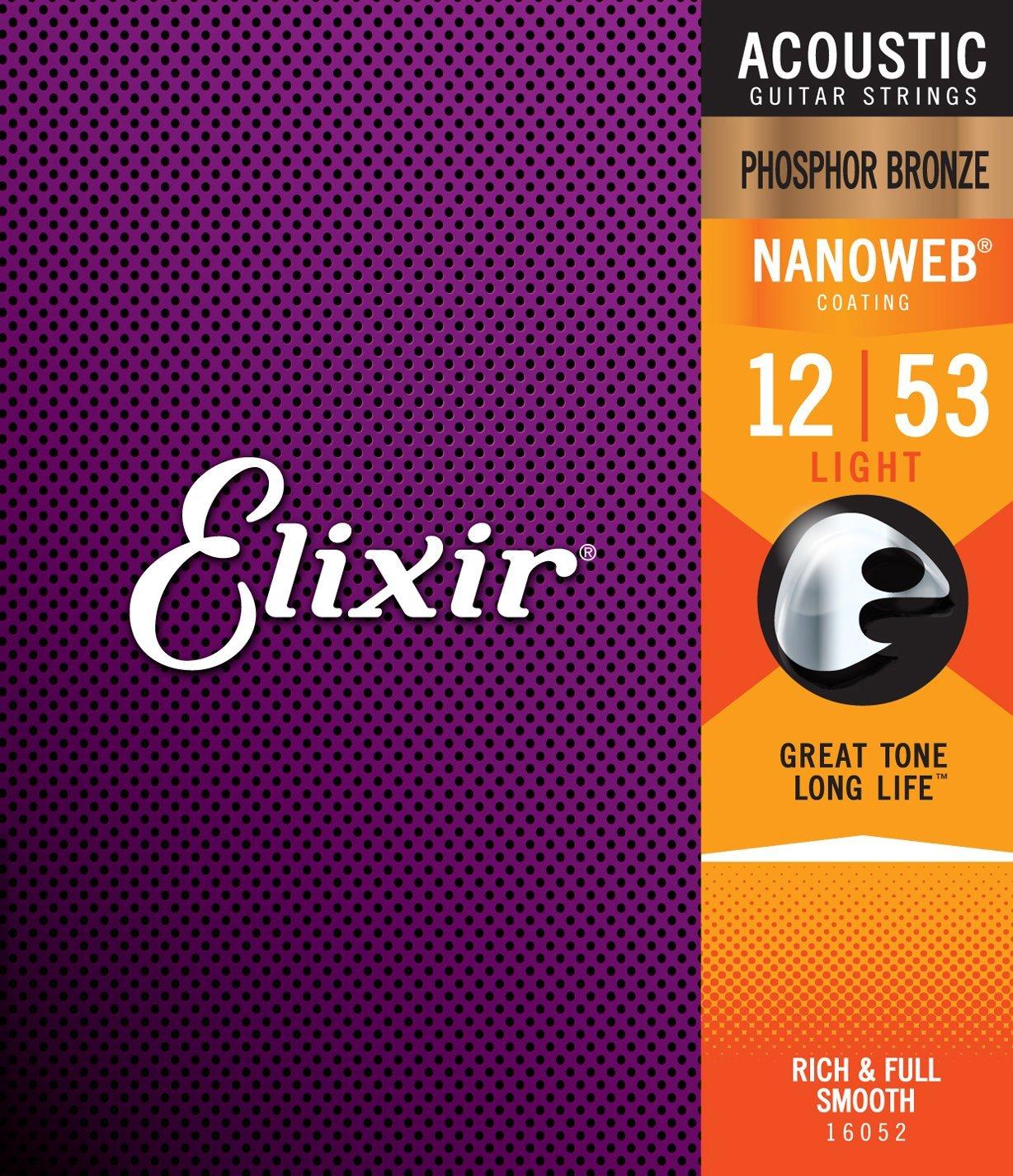 Elixir Nanoweb Phosphor Bronze 12-53 Set 16052