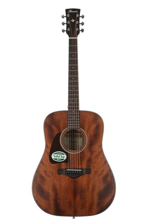 Ibanez AW54L Lefty Solid Mahogany Top Acoustic Guitar