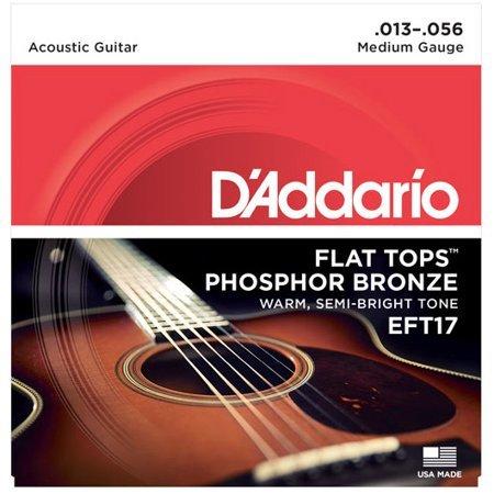 D'addario Acoustic Guitar Set Flat Tops 13-56 EFT17