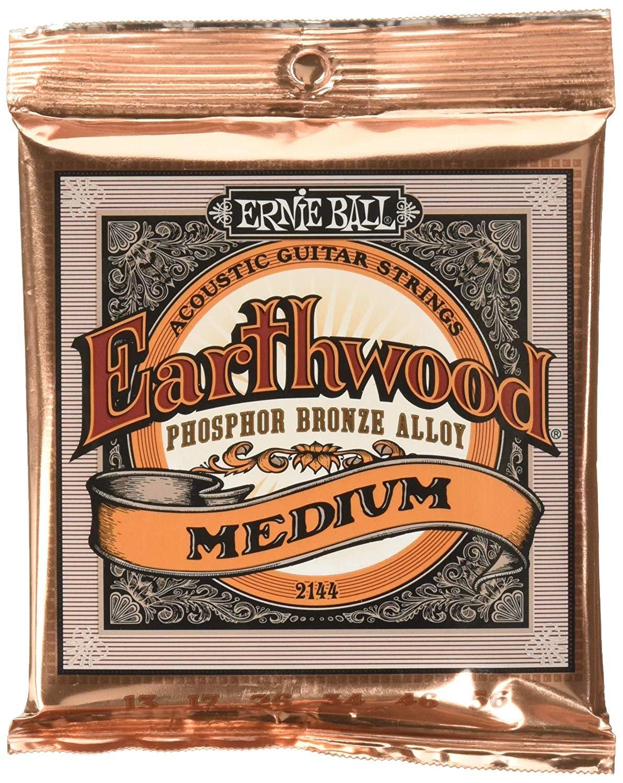 Ernie Ball Earthwood Acoustic Guitar Strings Slinky Phosphor Bronze 13-56