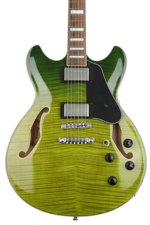 Ibanez AS73FMGVG Semi-Hollow Green Valley Gradation Flamed Maple Guitar