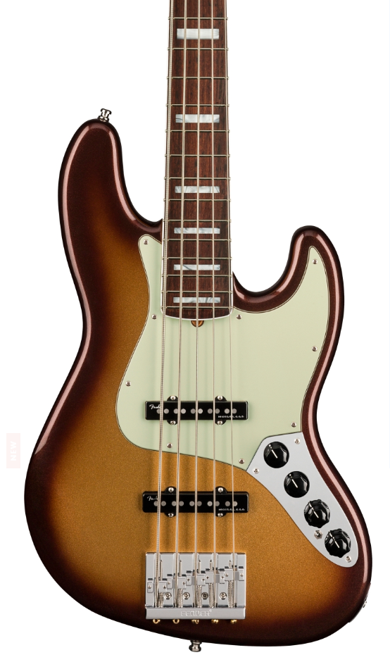 Fender American Ultra 5 String Jazz Bass Mocha Burst