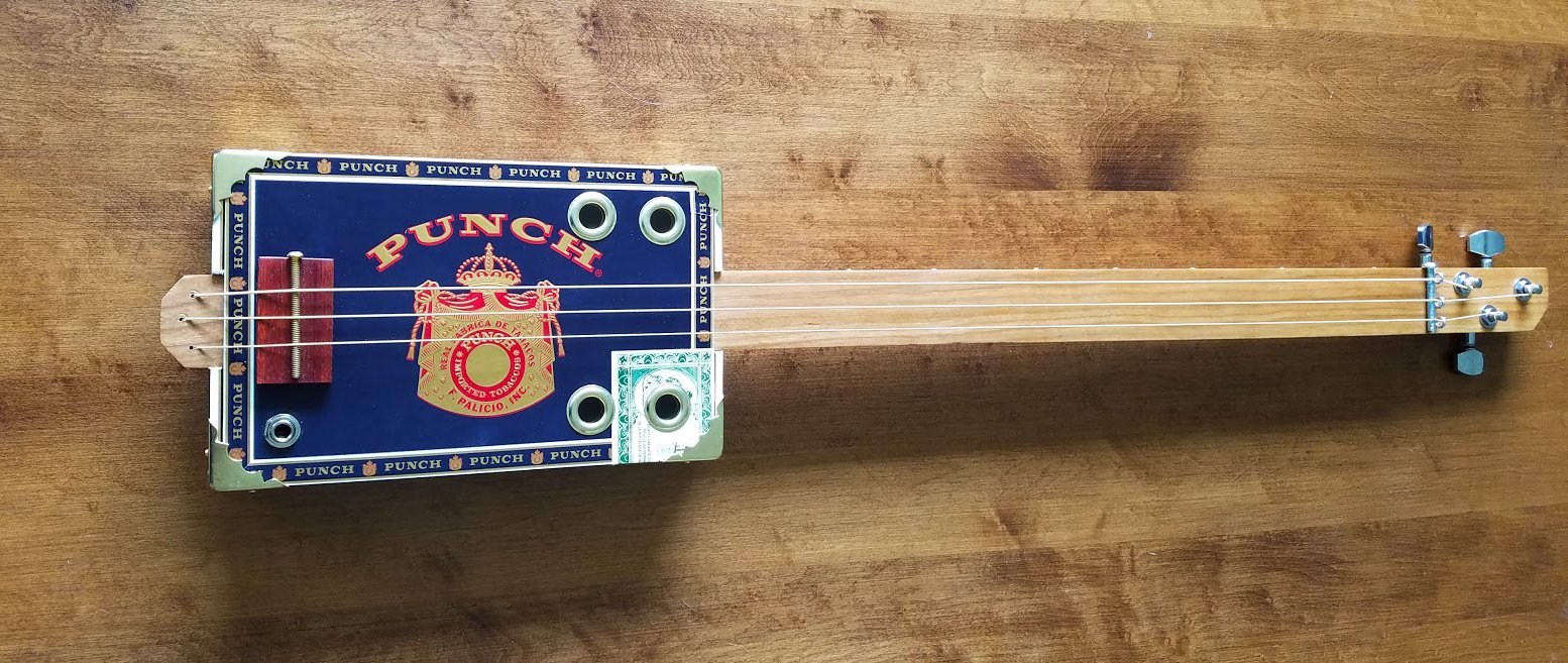 Defiant Guitars -  Small Punch Cigar Box Guitar - Acoustic/Electric