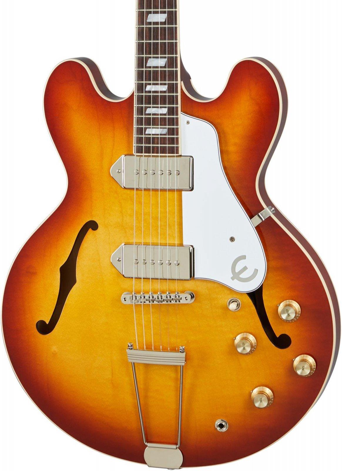 Epiphone Made in USA Casino Royal Tan Hollowbody Guitar
