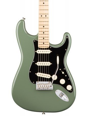 Fender - American Professional Stratocaster - Antique Olive - Maple