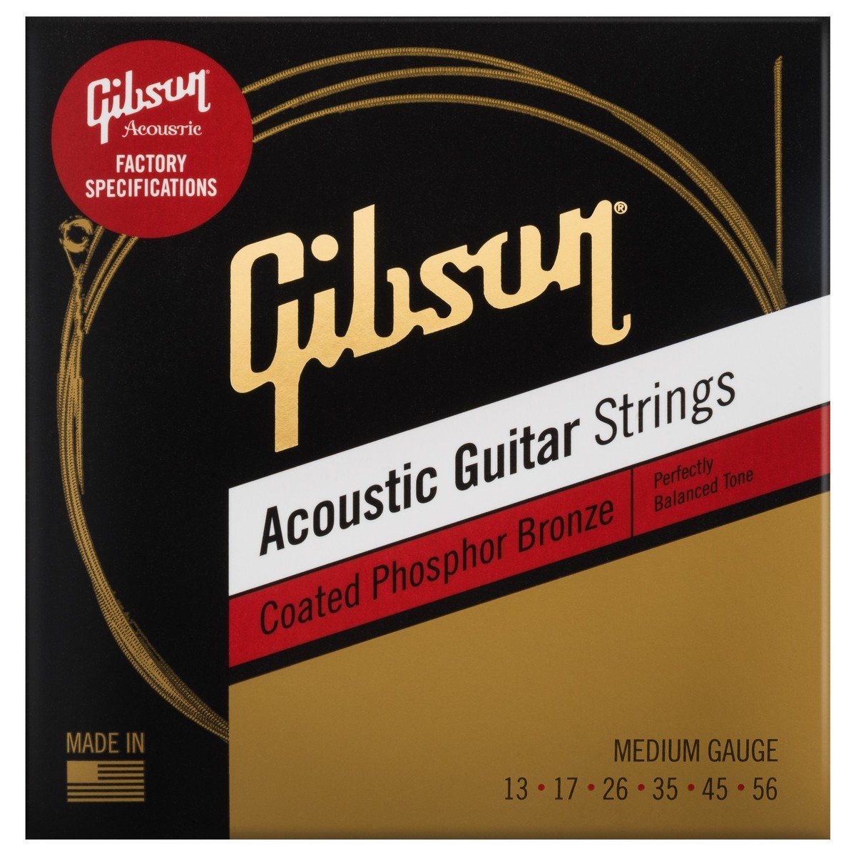 Gibson Coated Phosphor Bronze Strings 13-56 SEG-CPB13