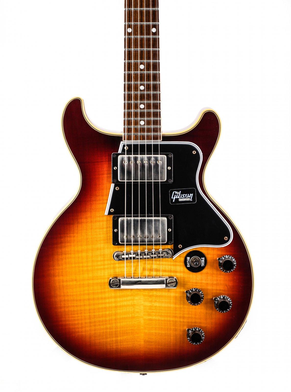 Gibson Custom Les Paul Special Doublecut Figured Bourbon Burst LPSPDCFVOBBNH1