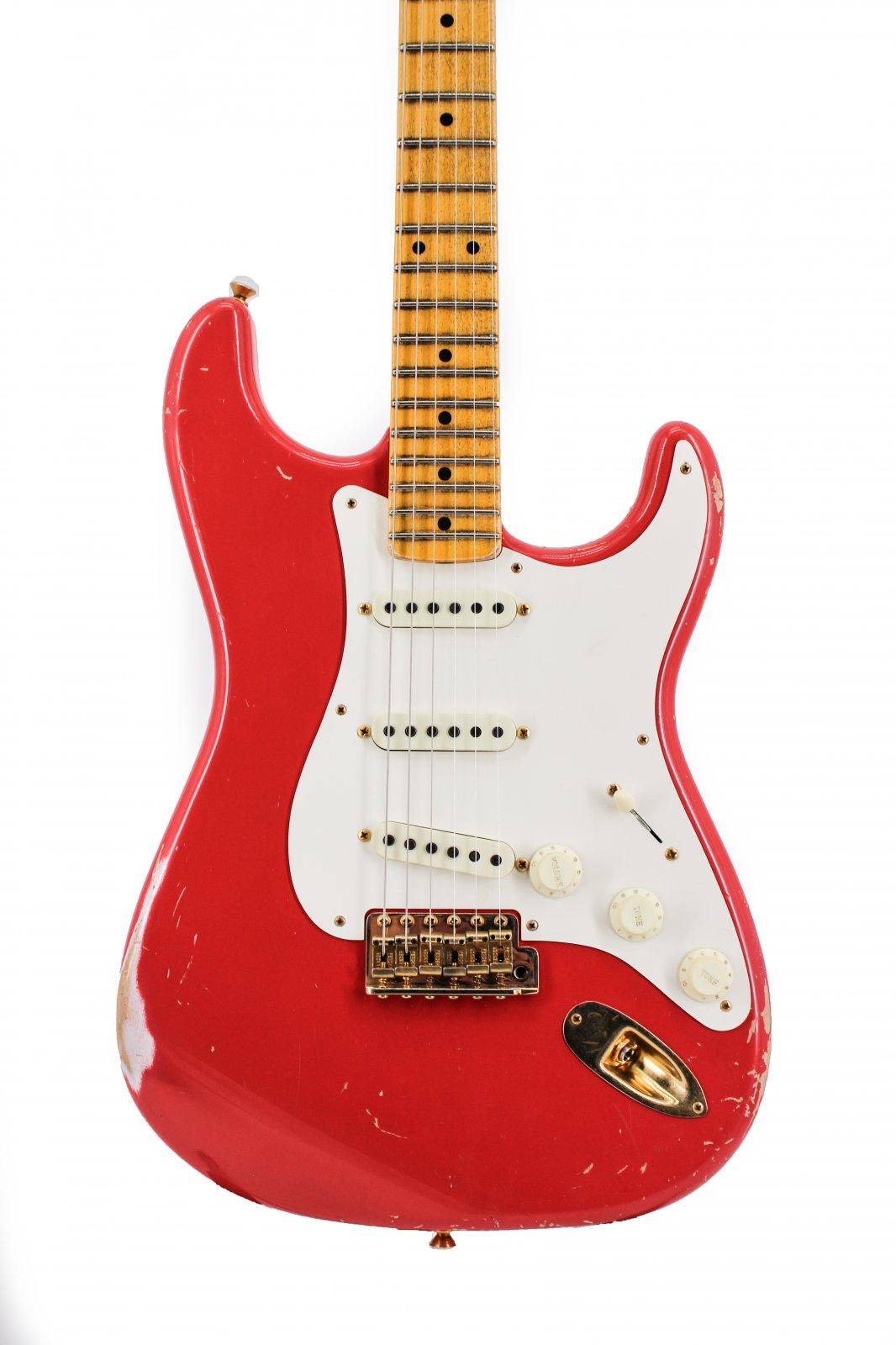 Fender Masterbuilt Dennis Galuszka 56' Strat Relic Fiesta Red Gold Hardware