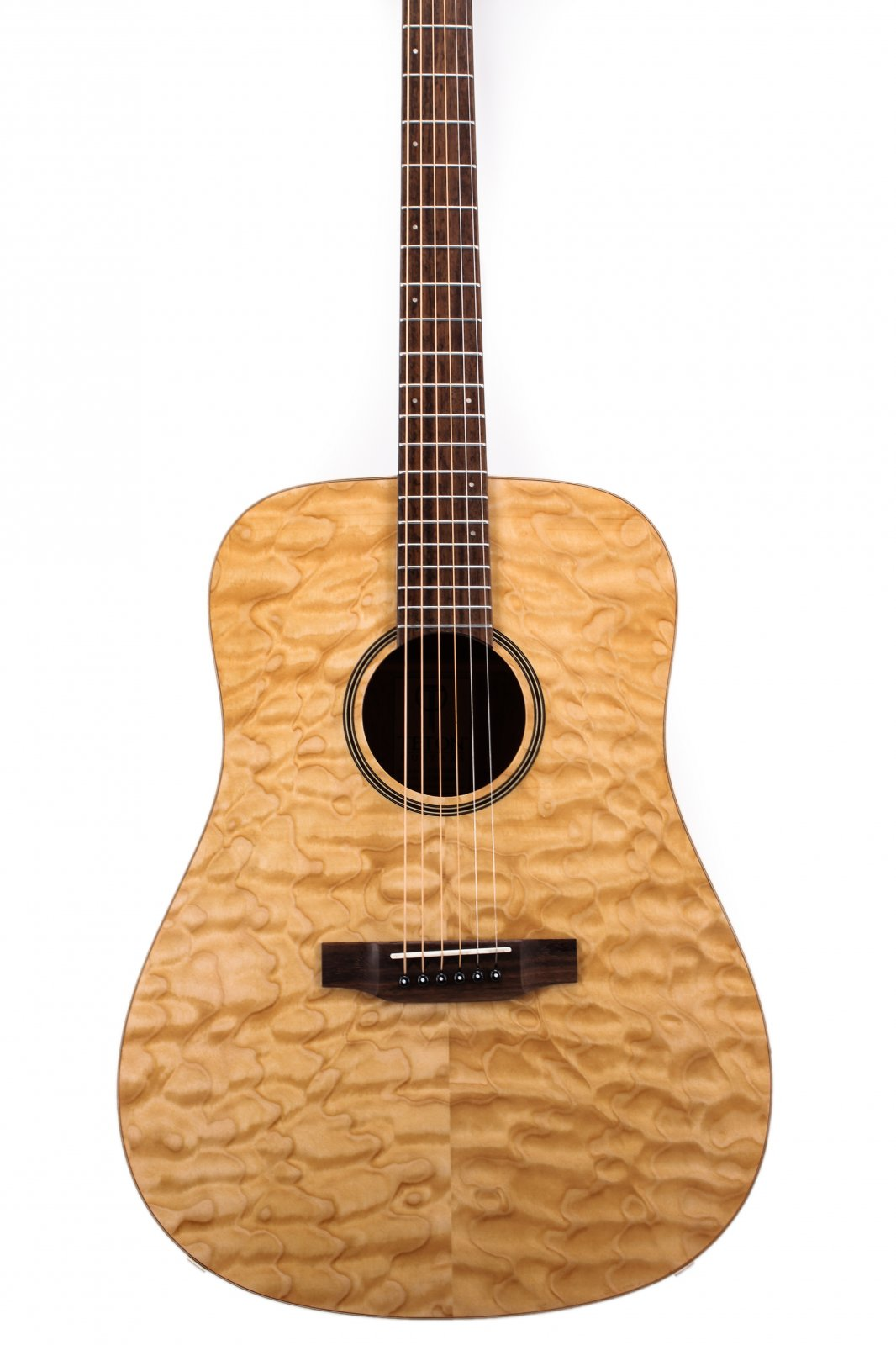 Teton STS000QMG Quilt Maple Veneer/Solid Top Dreadnaught Acoustic