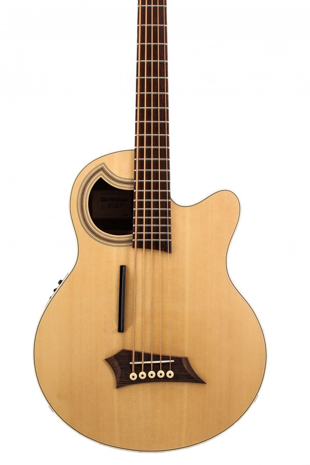 Warwick RockBass Alien Standard 5 String Acoustic Bass Natural Transparent Satin