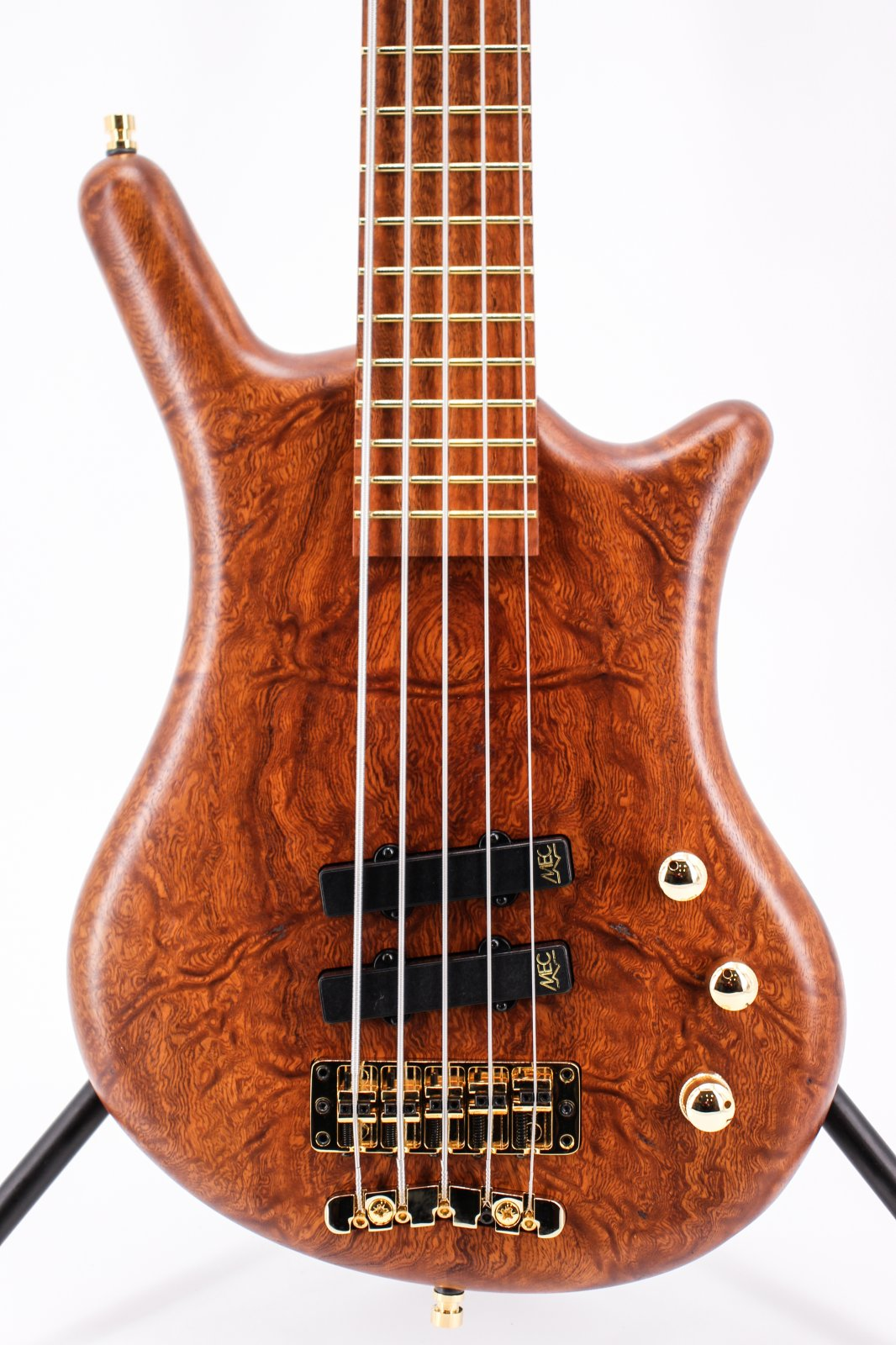 Warwick Pro Series Thumb BO 5-String LTD Burled Mahogany Gold Hardware Bass