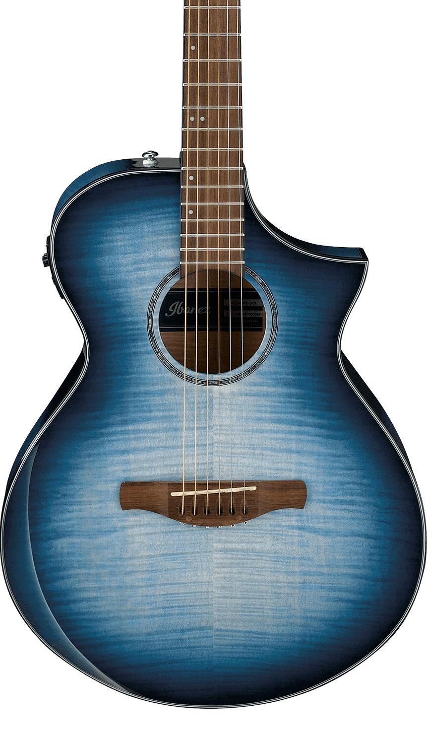 Ibanez AEWC400IBB Acoustic/Electric Indigo Blue Burst