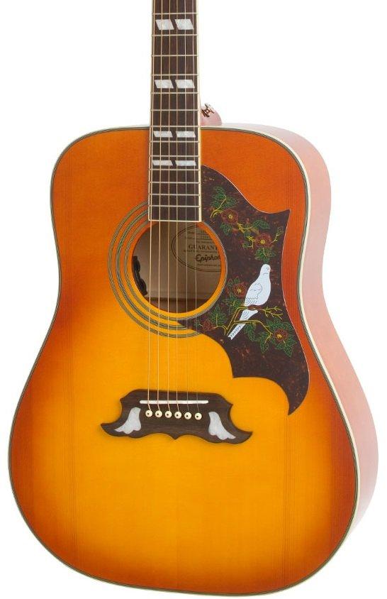 Epiphone Dove Pro A/E Guitar Violin Burst