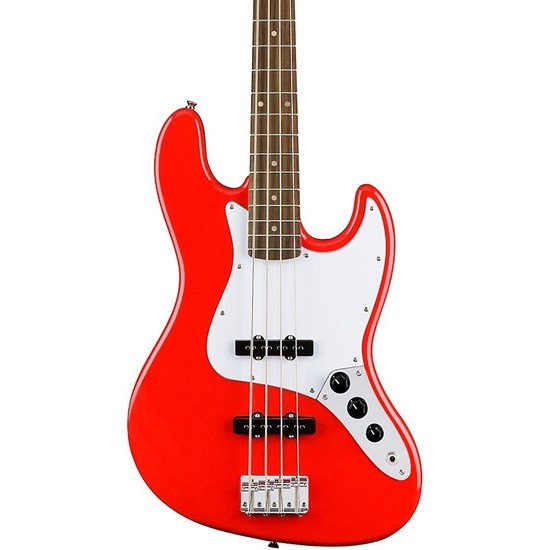 Squier Affinity Jazz Bass Race Car Red Indian Laurel