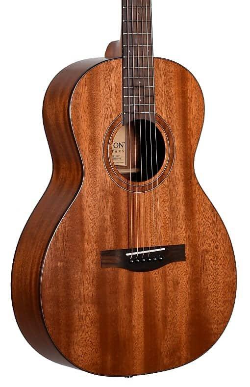 Teton STP103NT Solid Mahogany Top Parlor Acoustic Guitar