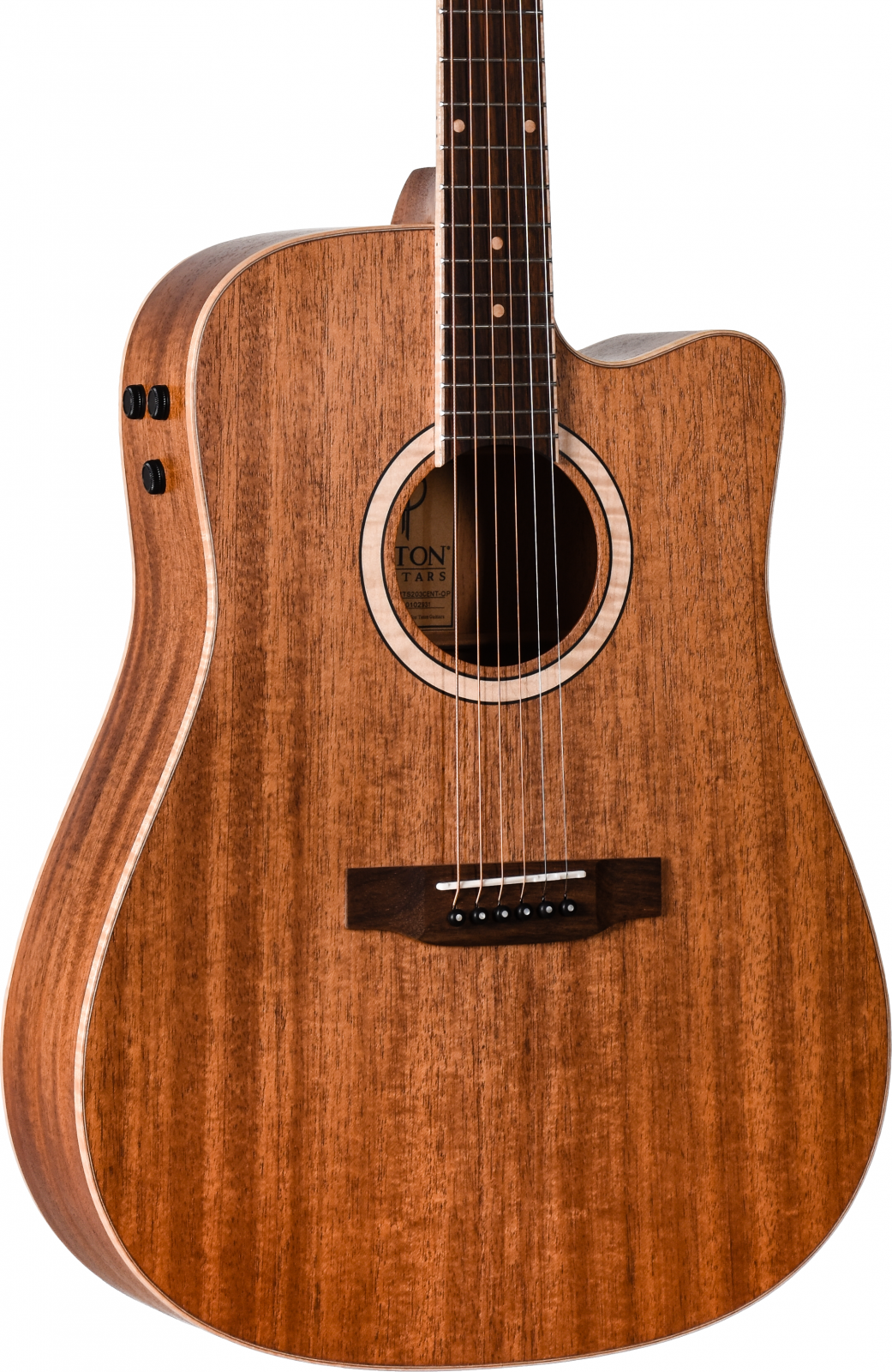 Teton STS203CENT-OP All Solid Mahogany Acoustic/Electric